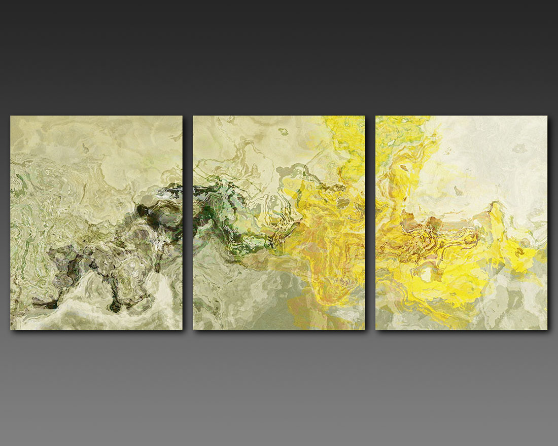 Large Triptych Giclee Print On Gallery Wrap Canvas, 20x48, Abstract ...
